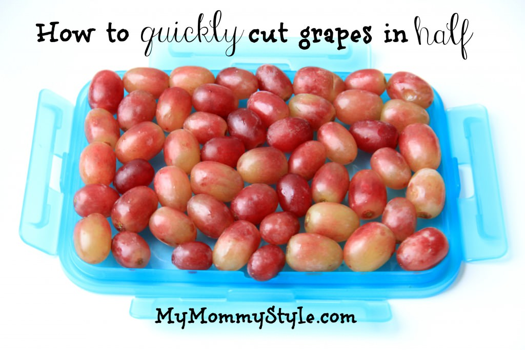 How to quickly cut grapes in half