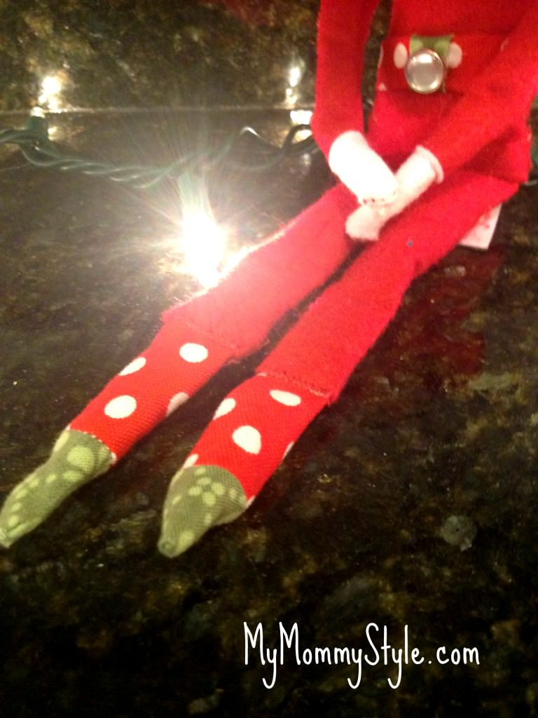 elf on the shelf refashion, what to do if you burn your elf in a light fixture