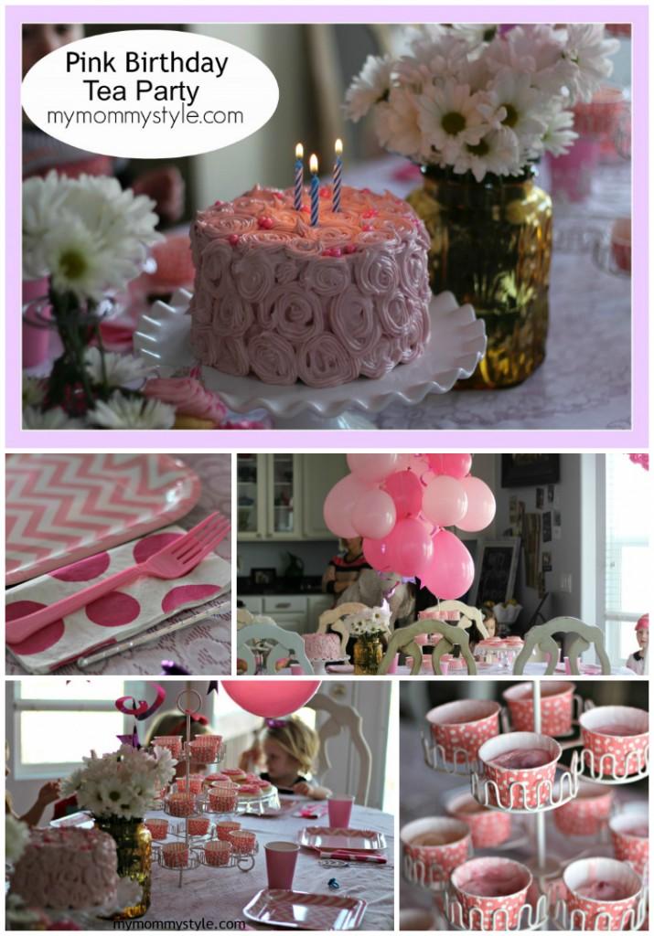 pink birthday tea party, little girl birthday party ideas