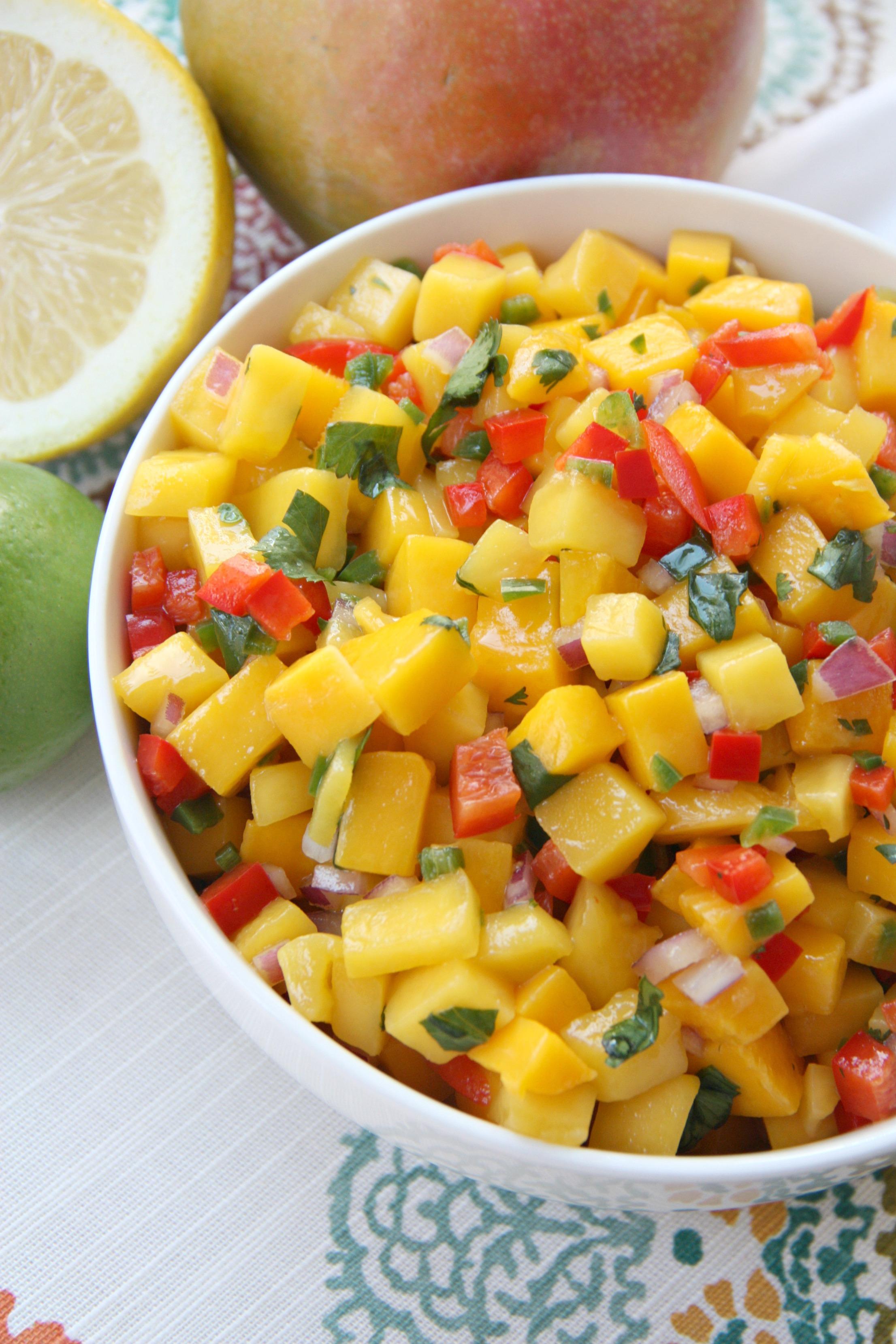 mango salsa bowl