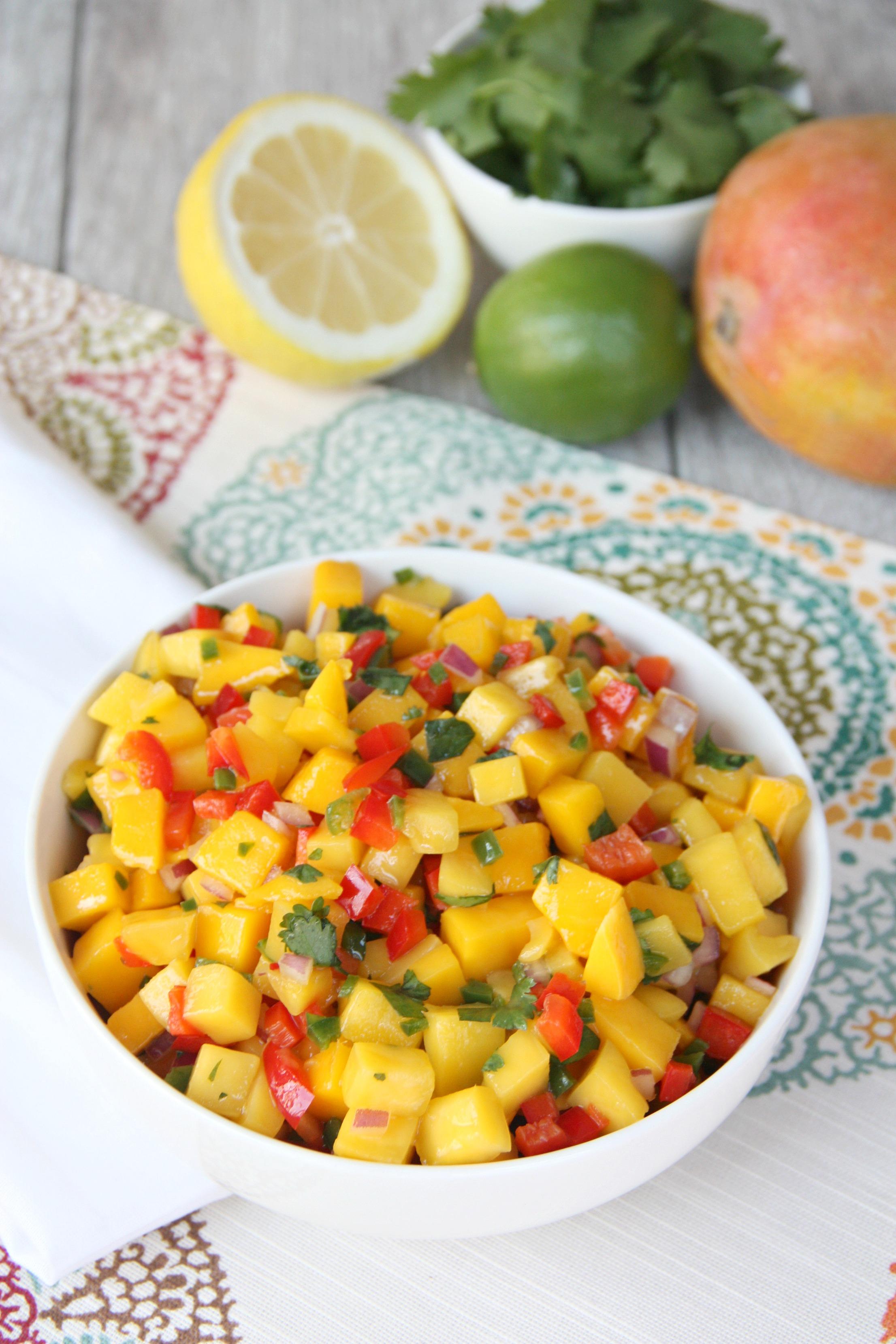 mango salsa fruits