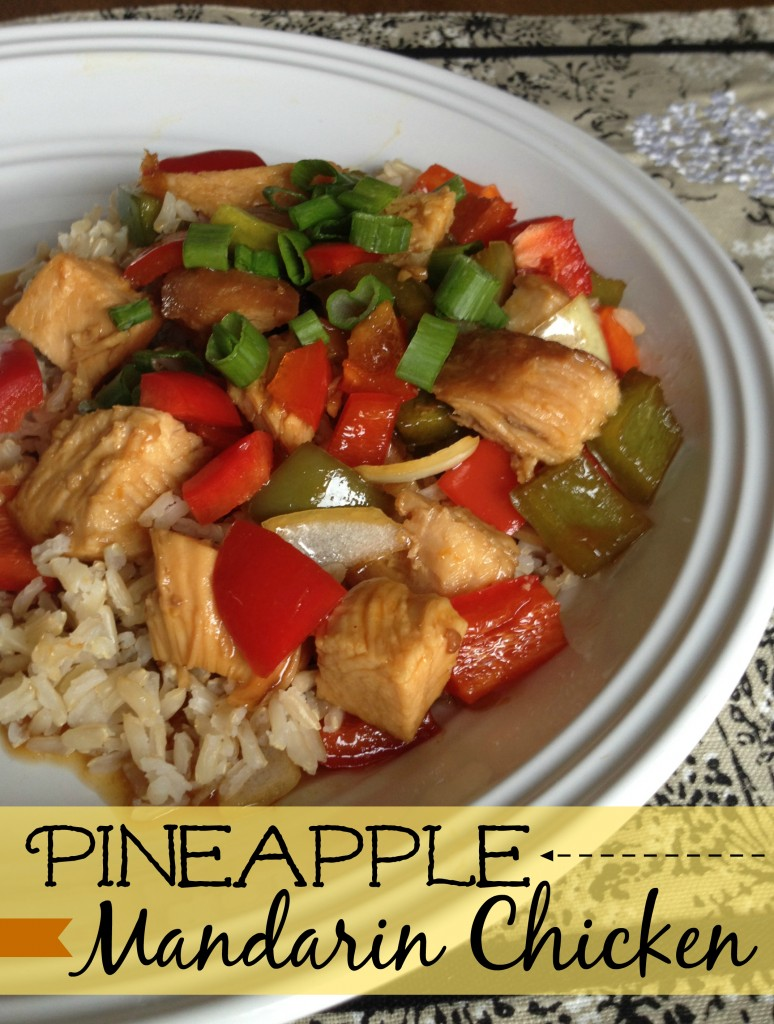 Pineapple madarin chicken slow cooker