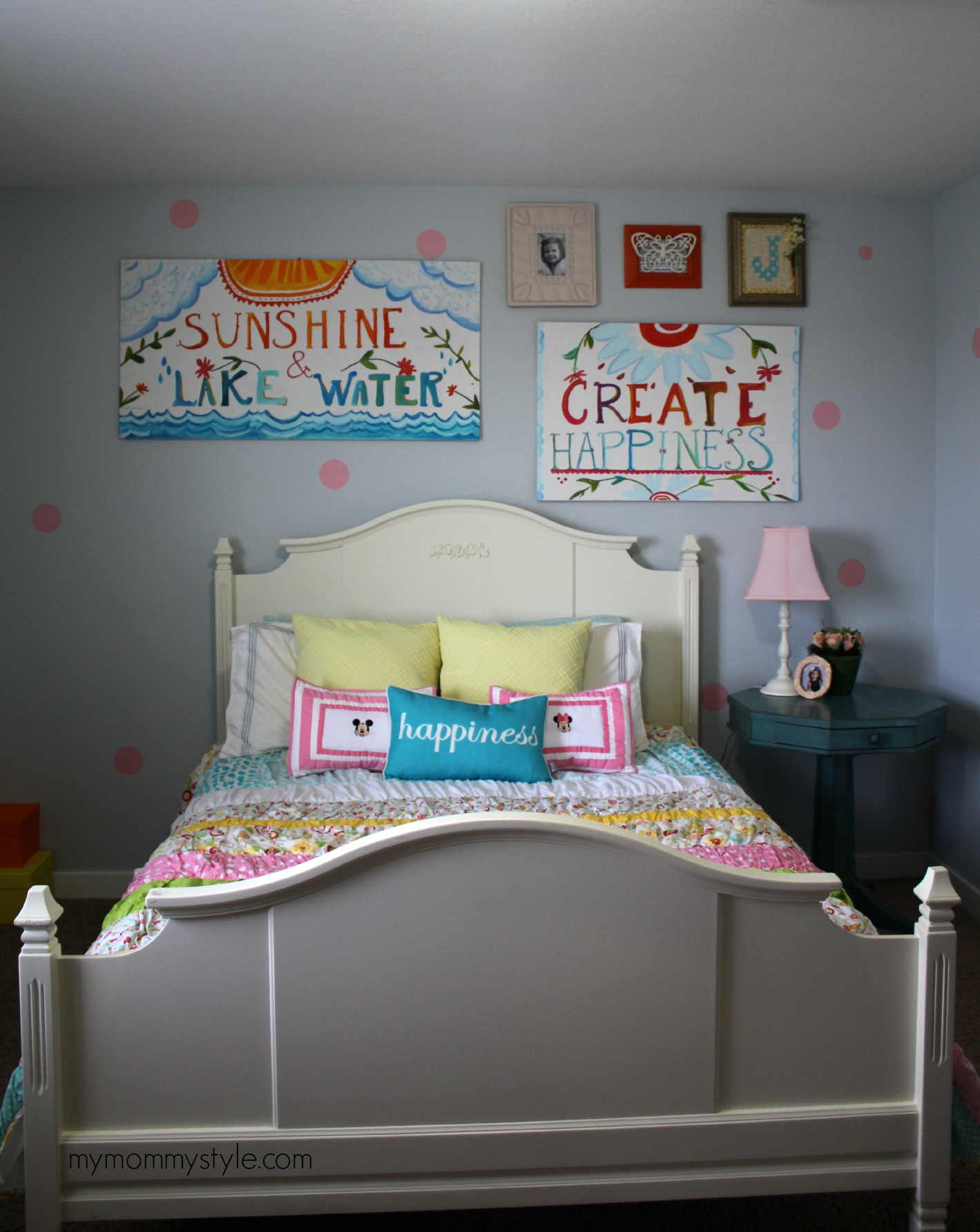 Little Girls Room, mymommystyle.com, polka dot walls