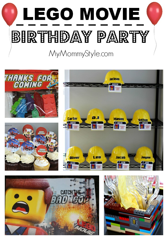 lego movie birthday party, lego birthday party, lego movie, lego birthday decorations, mymommystyle.com, party, parties for boys