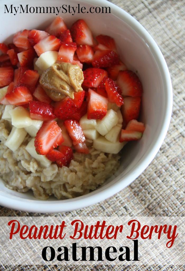 peanut butter berry oatmeal