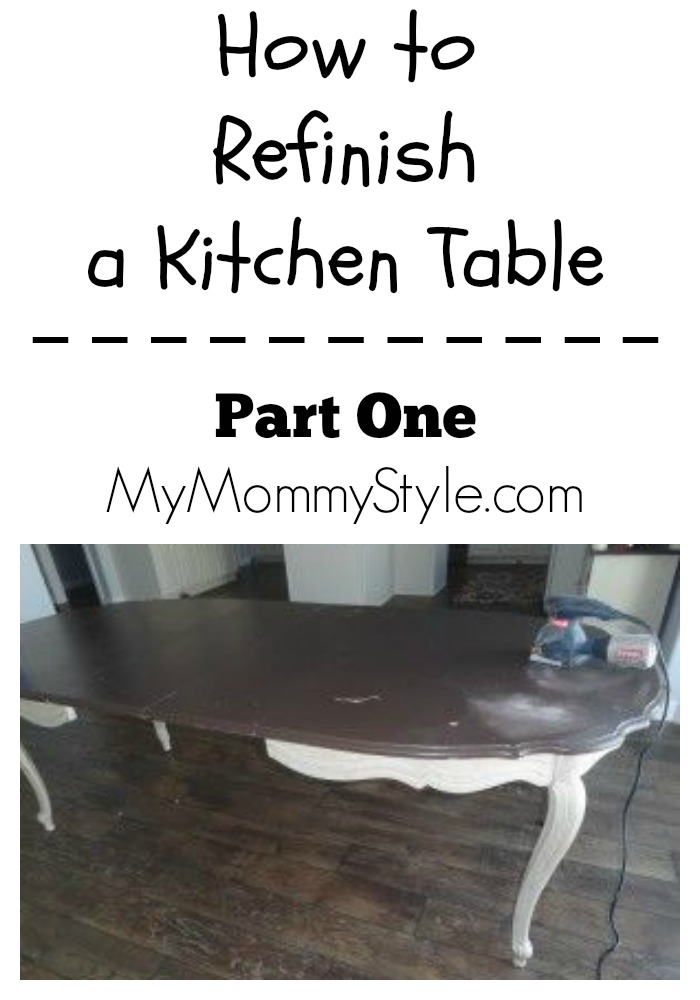 How to refinish a kitchen table, part one, mymommystyle.com
