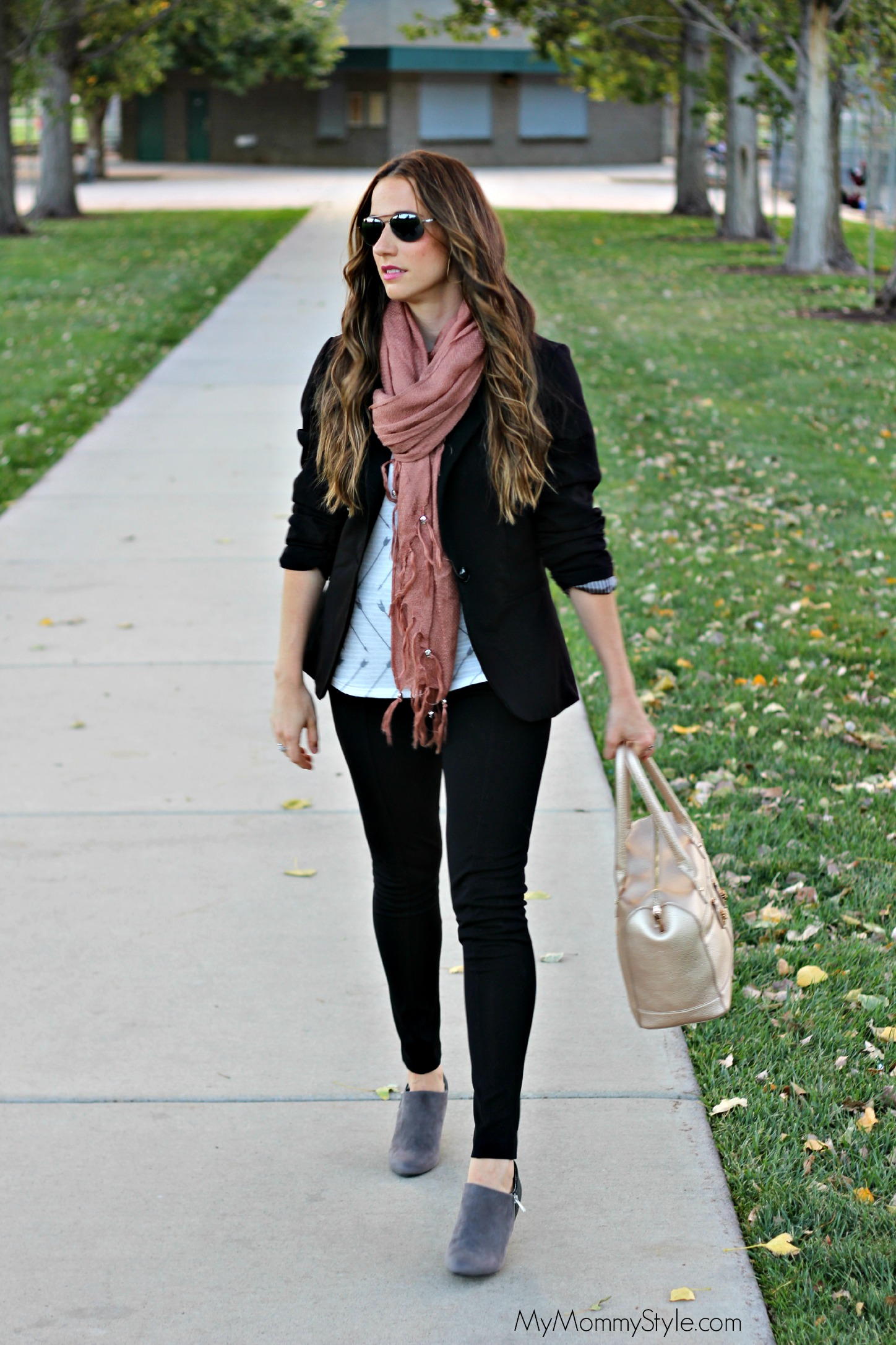 fall look, scarf, booties, gray booties, boots, shoes, fall  2014