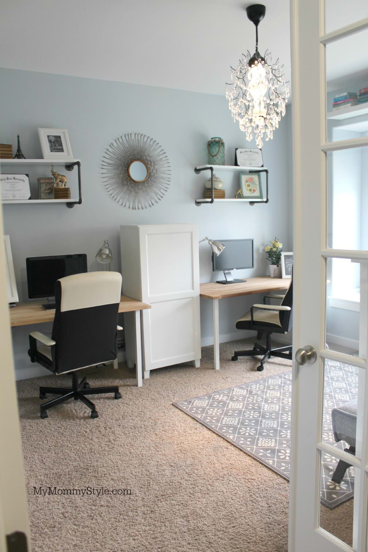 family office and guest room, IKEA, mymommystyle.com, Modifyink, family office, home office, after shot