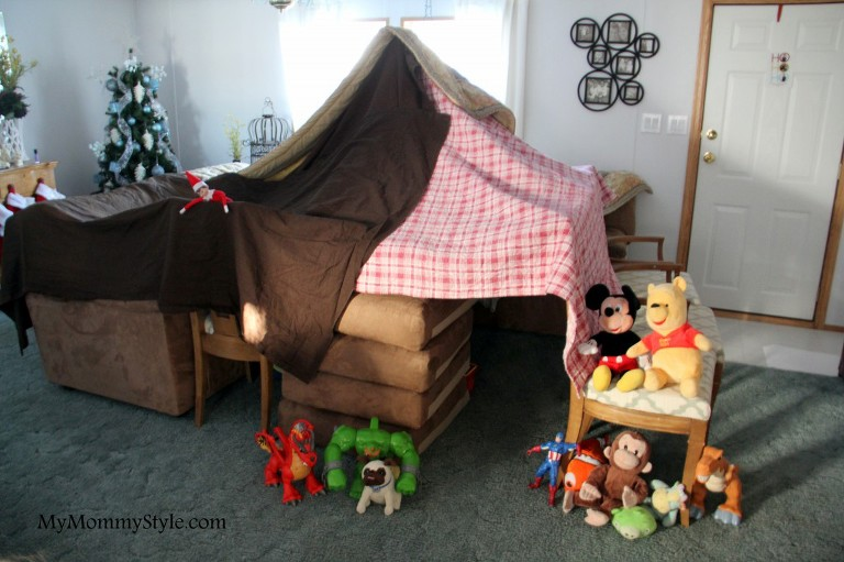 Elf on the shelf toy fort