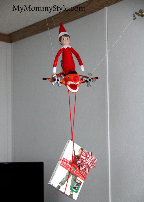 Elf Flying with a movie attached
