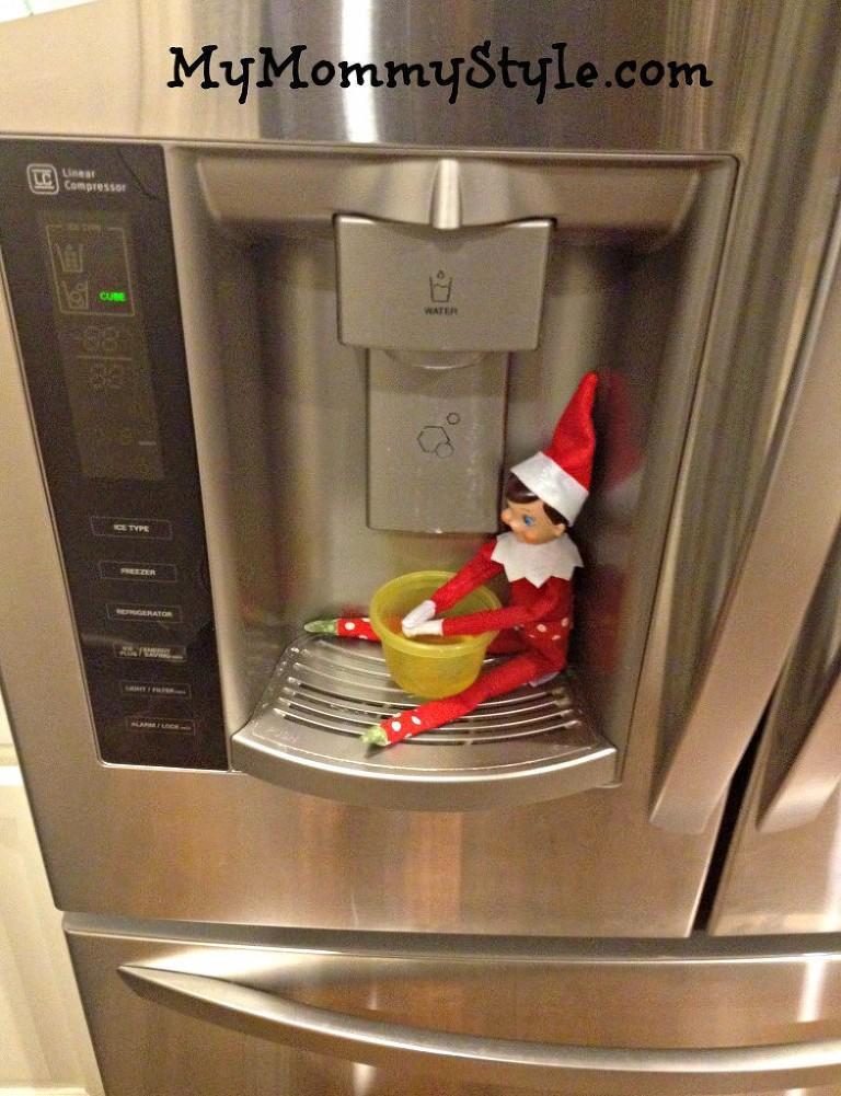 elf on the shelf ideas, elf on the shelf getting a drink