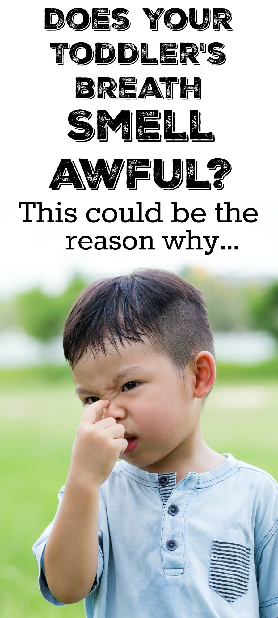 Find out what you can do if your kid's breath smells like poop! We have a list of the potential causes of the smell and how you can fix it. via @mymommystyle