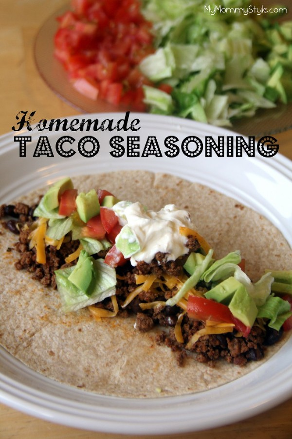 Tacos with homemade taco seasoning . I like tacos because you can mix ...