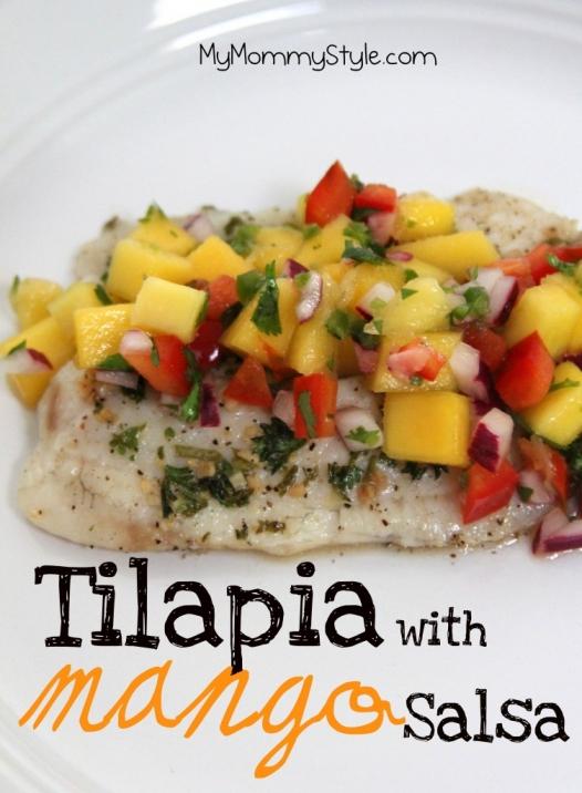 Tilapia with mango salsa