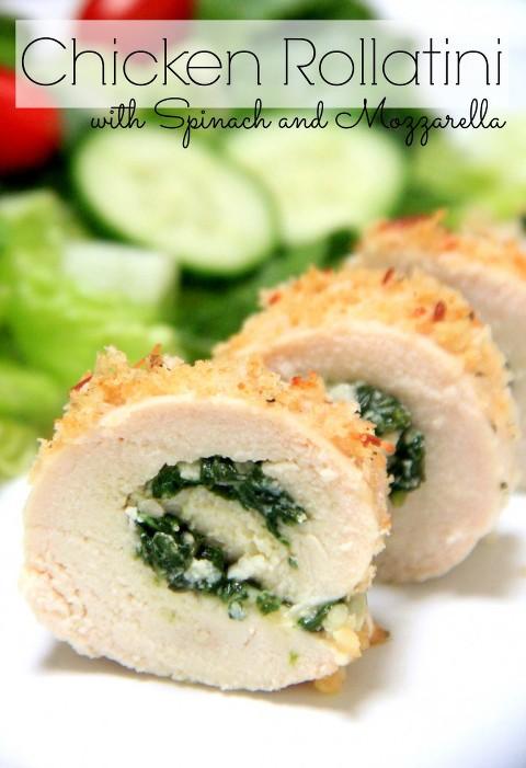 Chicken Rollatini with Spinach and Mozzarella