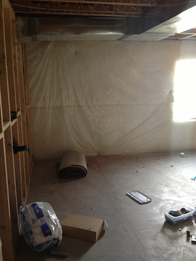 Turning a basement into a playroom part one for Turning a basement into a bedroom