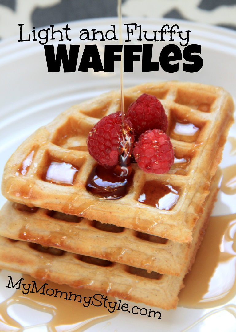 light and fluffy waffles, breakfast, brunch, what should I make for breakfast, syrup, the best waffles