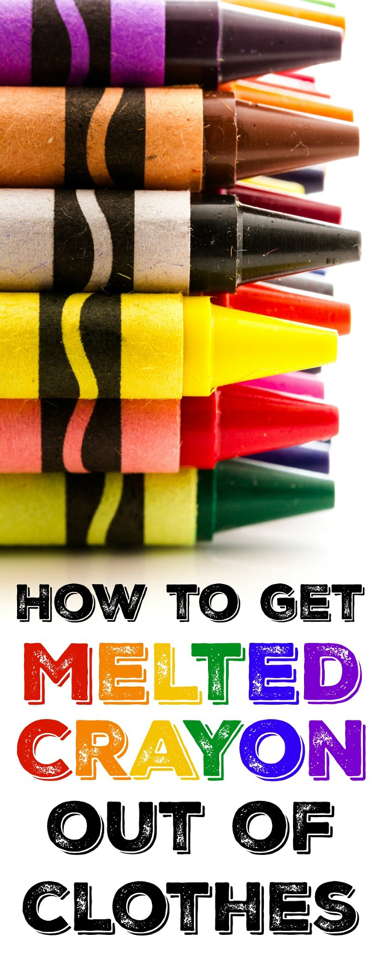 How to get melted crayons out of clothes