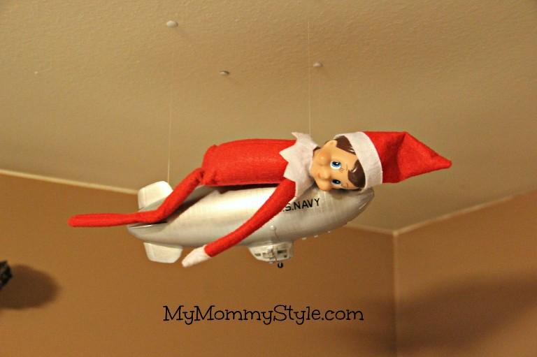 elf on the shelf ideas, elf on a blimp