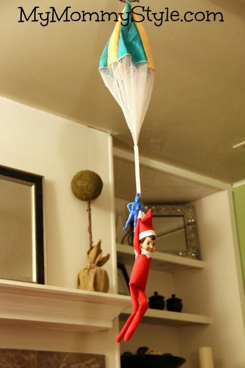 elf on the shelf parachute, elf on the shelf ideas