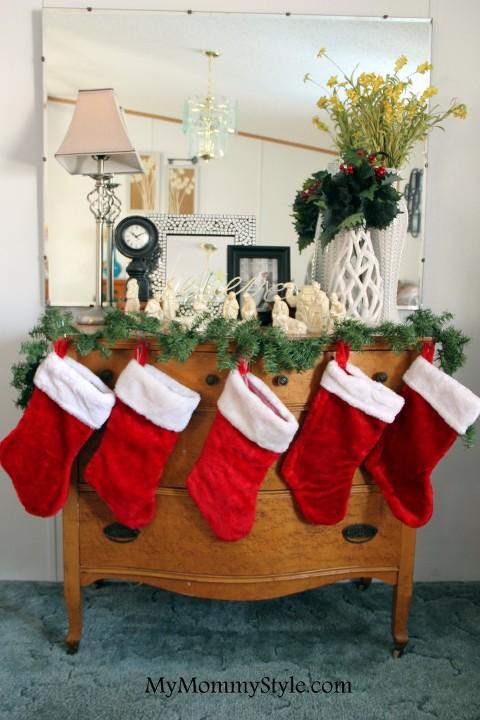 stockings on dresser