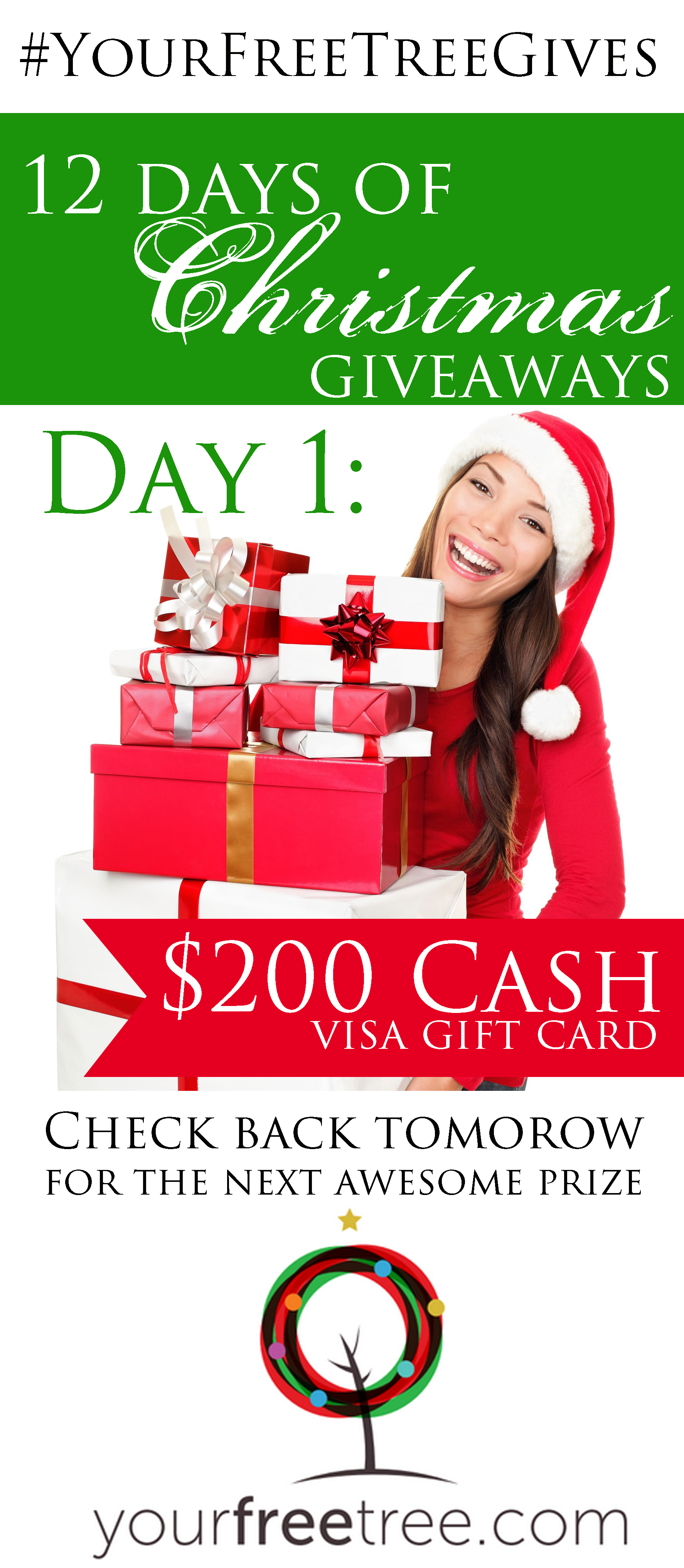 YourFreeTree.com 12 Days of Christmas Giveaway!