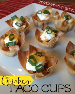 chicken taco cups appetizer