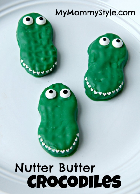 Crocodile Nutter Butter Valentines - My Mommy Style