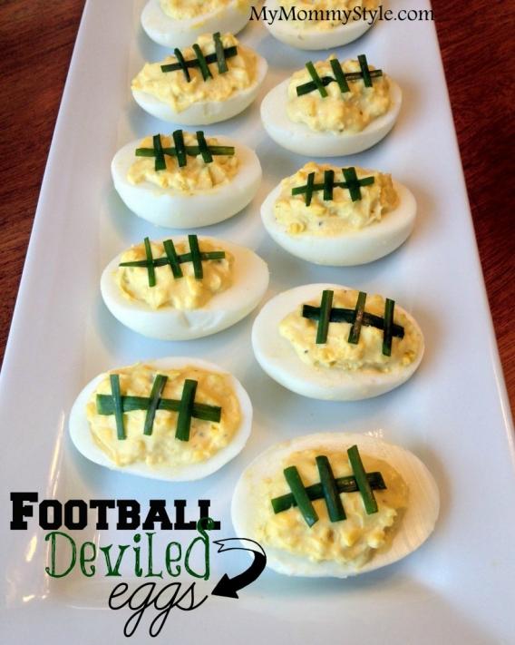 My Mommy Style deviled egg footballs