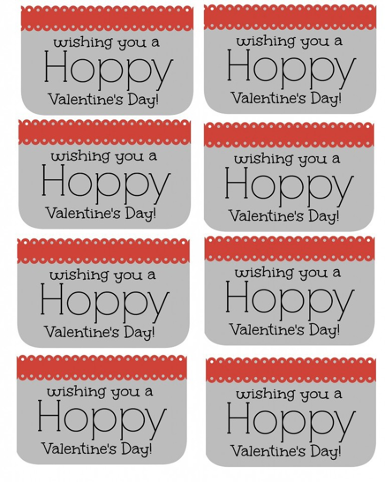 hoppy valentine tags