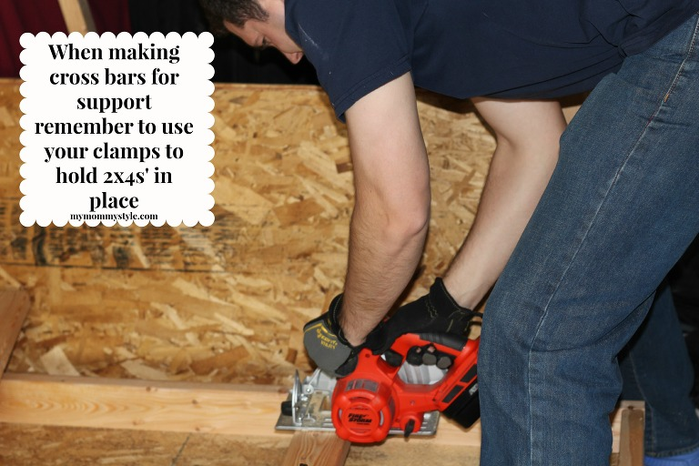 How to build storage shelves, clamps, sawing, mymommystyle.com