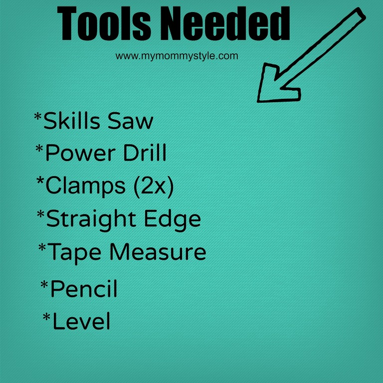 Tools Needed, how to build storage shelves, www.mymommystyle.com