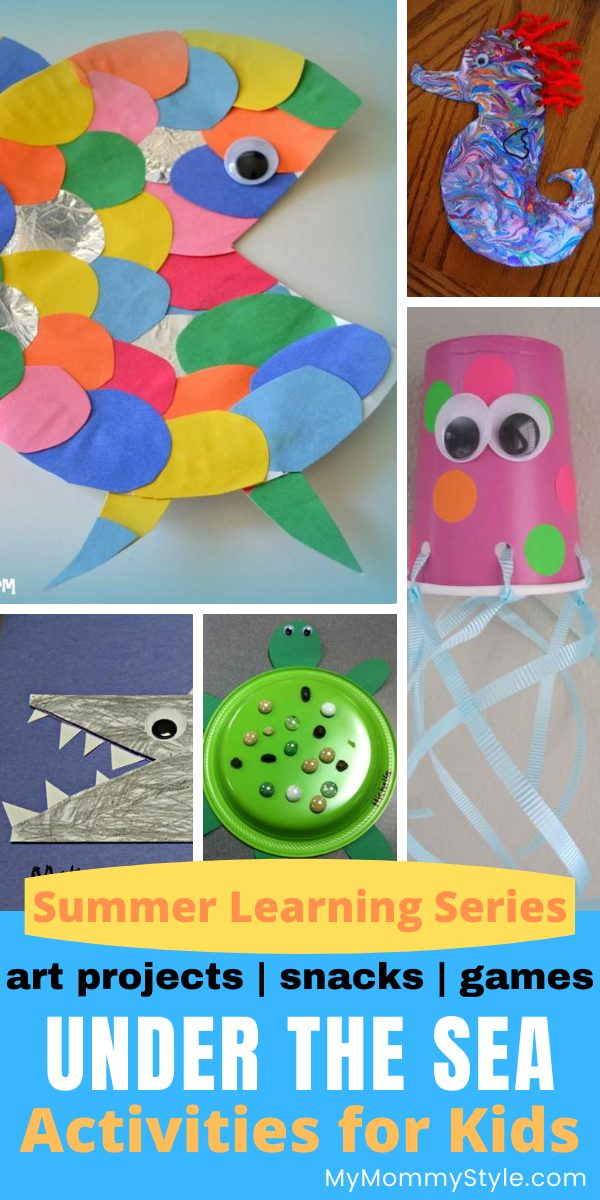 Under the sea is a magical and colorful place to explore! Here are some favorite under the sea activities for kids including art projects, games and snacks. via @mymommystyle