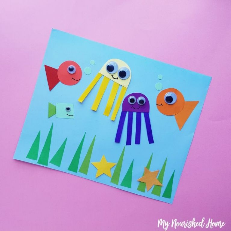 Construction paper under the sea craft for kids