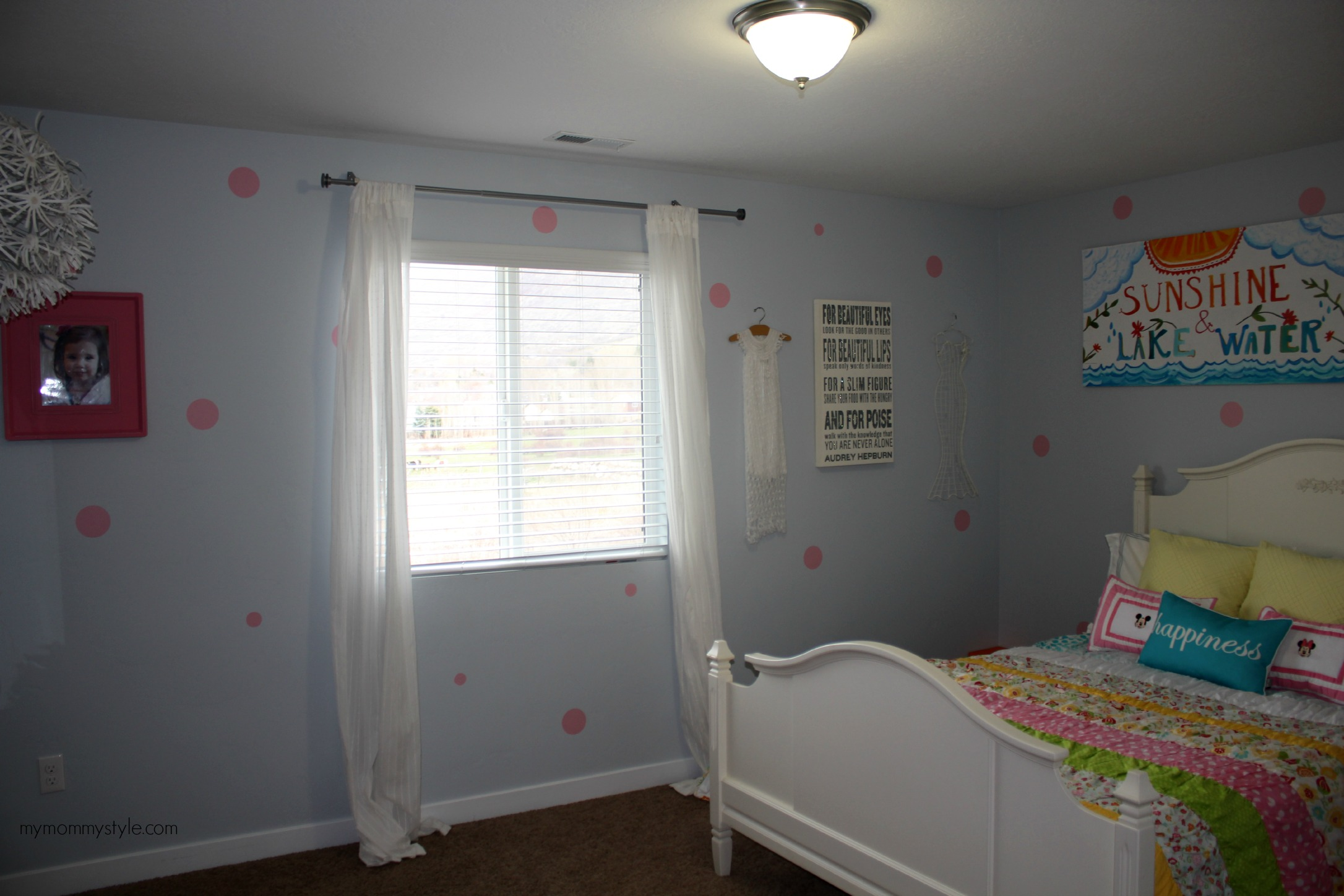LIttle girls room, polka dots, mymommystyle