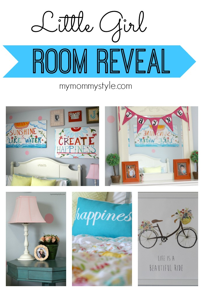 Little Girl Room Reveal, Mymommystyle.com, girls room ideas, decorating girls room, decorating ideas, home decor