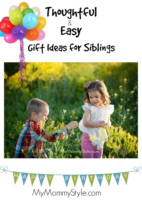 Thoughtful and Easy gift ideas for siblings, mymommystyle.com, boy and girl, boy giving girl flower, giftgiving, gratitude, thoughfulness