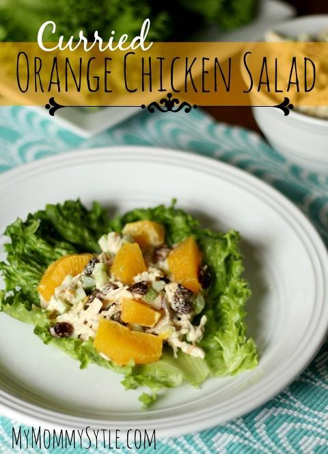 curried orange chicken salad