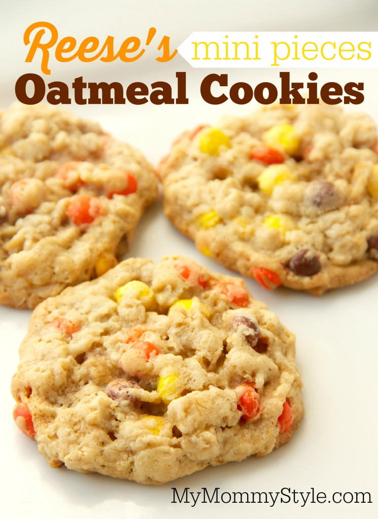 mini pieces oatmeal cookies reese s mini pieces oatmeal cookies