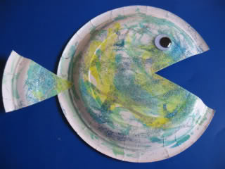 under the sea art projects paper plate fish