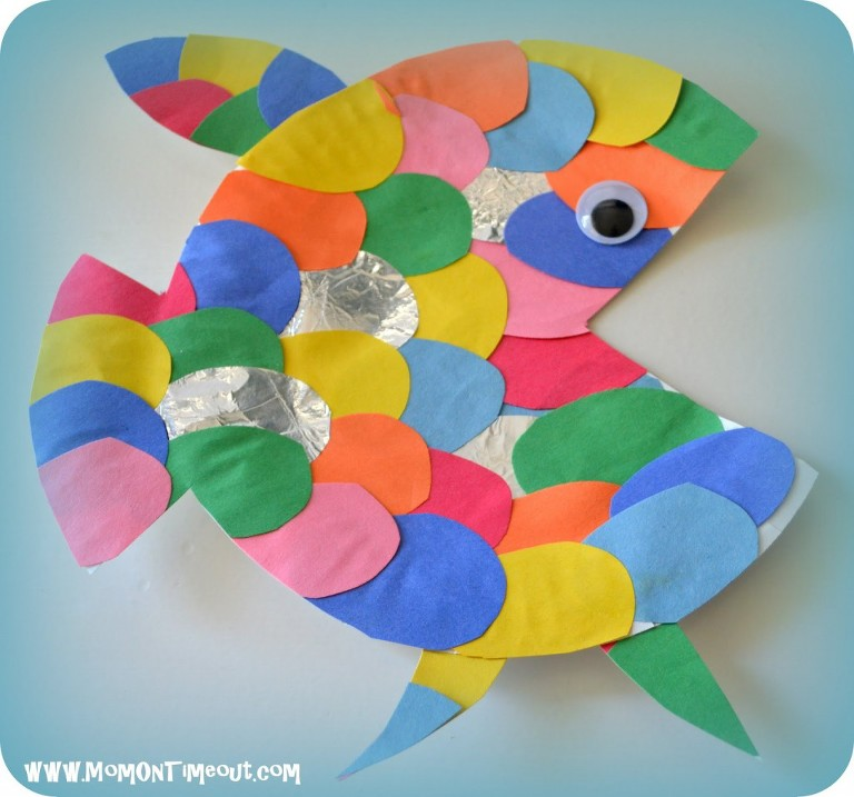 under the sea art projects rainbow fish