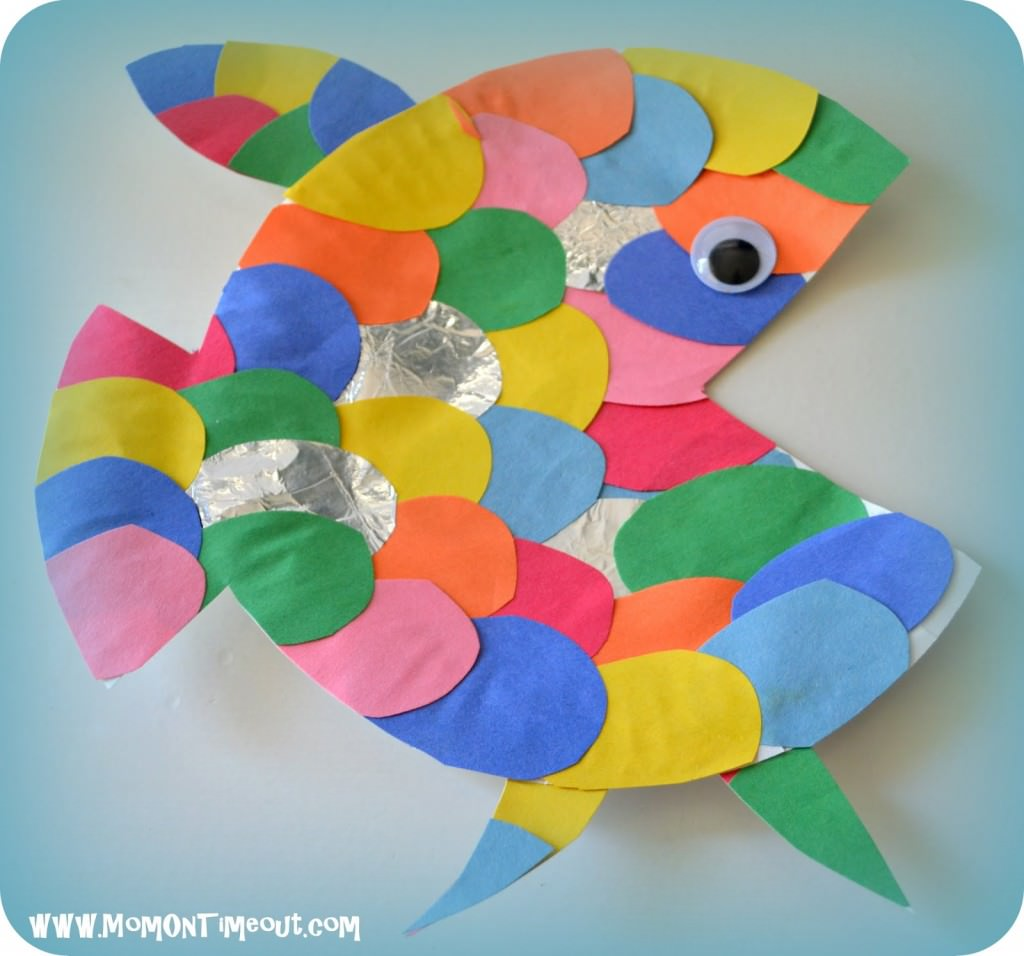 Under the sea art projects my mommy style for Fish art and craft