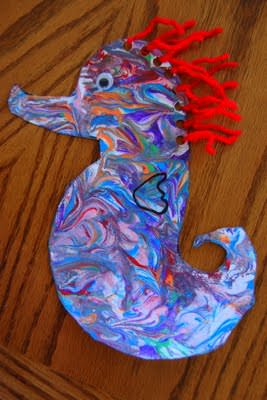 under the sea seahorse
