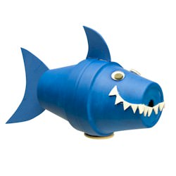 under the sea shark flowerpot