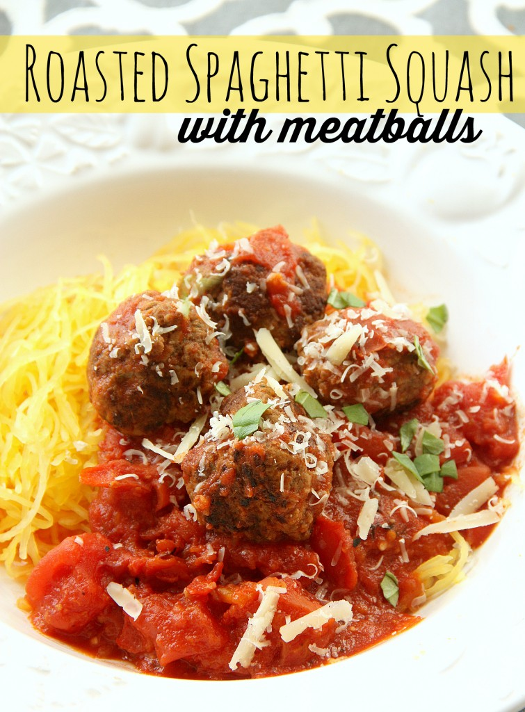Roasted Spaghetti Squash with meatballs - My Mommy Style