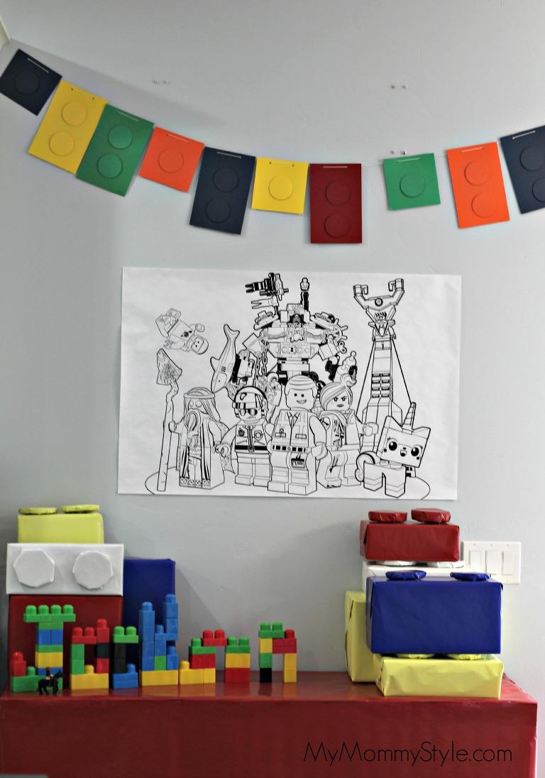 Lego Party, lego movie birthday party, legos, lego party decorations