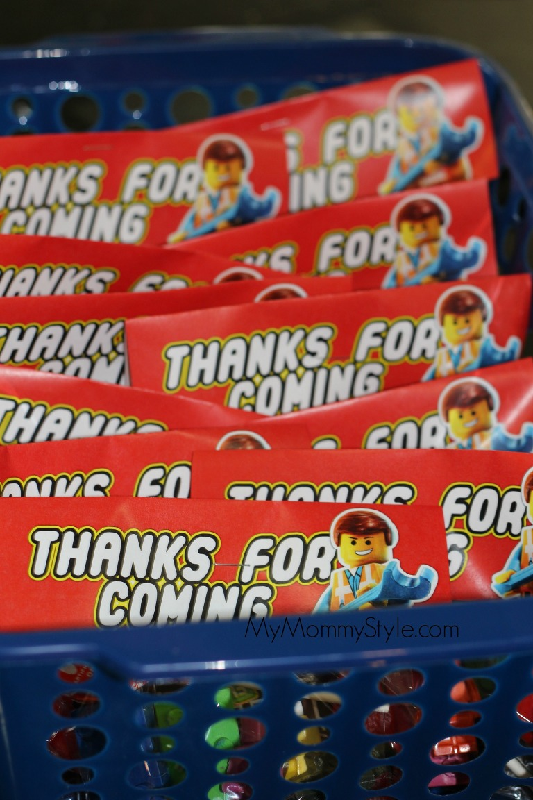 Lego Party, lego movie birthday party, party favors