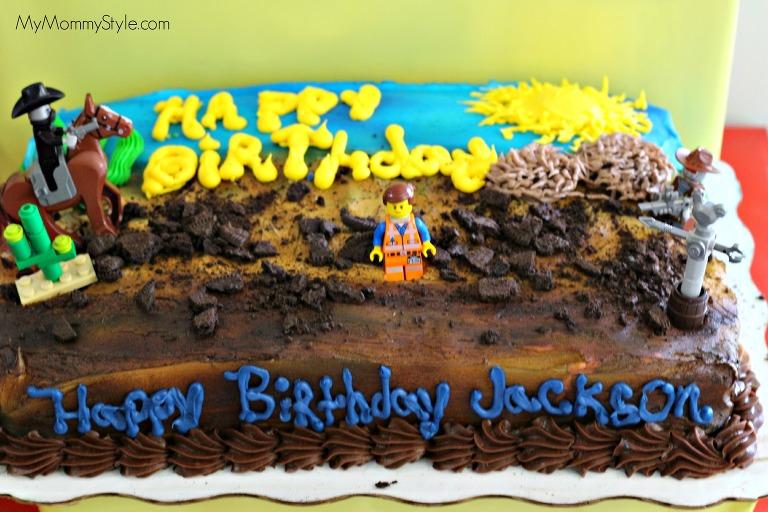 lego movie birthday cake, lego birthday party 013