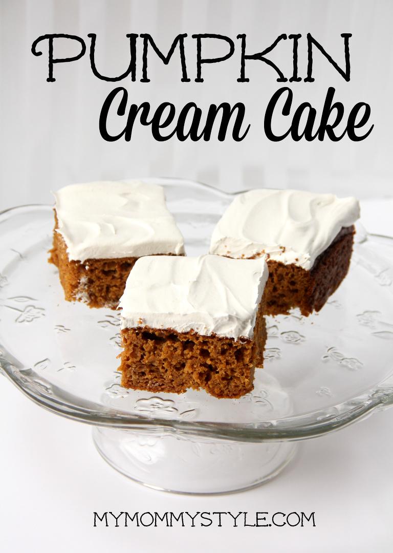 pumpkin cream cake