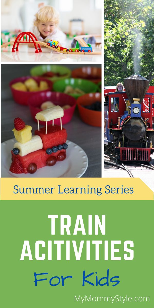 This summer learning series is all about trains activities for kids. From train crafts to toys and snacks, make learning about trains fun and exciting! via @mymommystyle